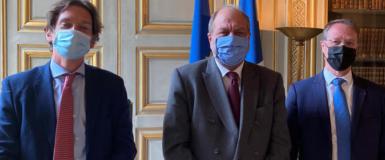 François ASSELIN, rencontre le garde des Sceaux, Eric DUPOND-MORETTI